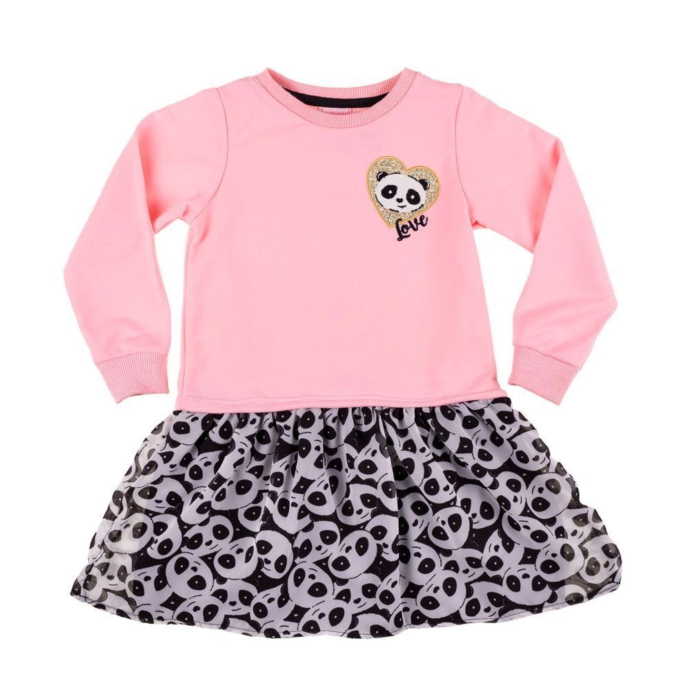 Vestido de 1 a 3 Anos Blusao Panda Yoyo Kids