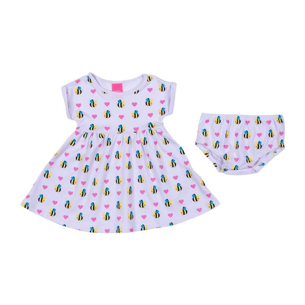 Vestido de Bebê Abelhinha com Calcinha Kamylus