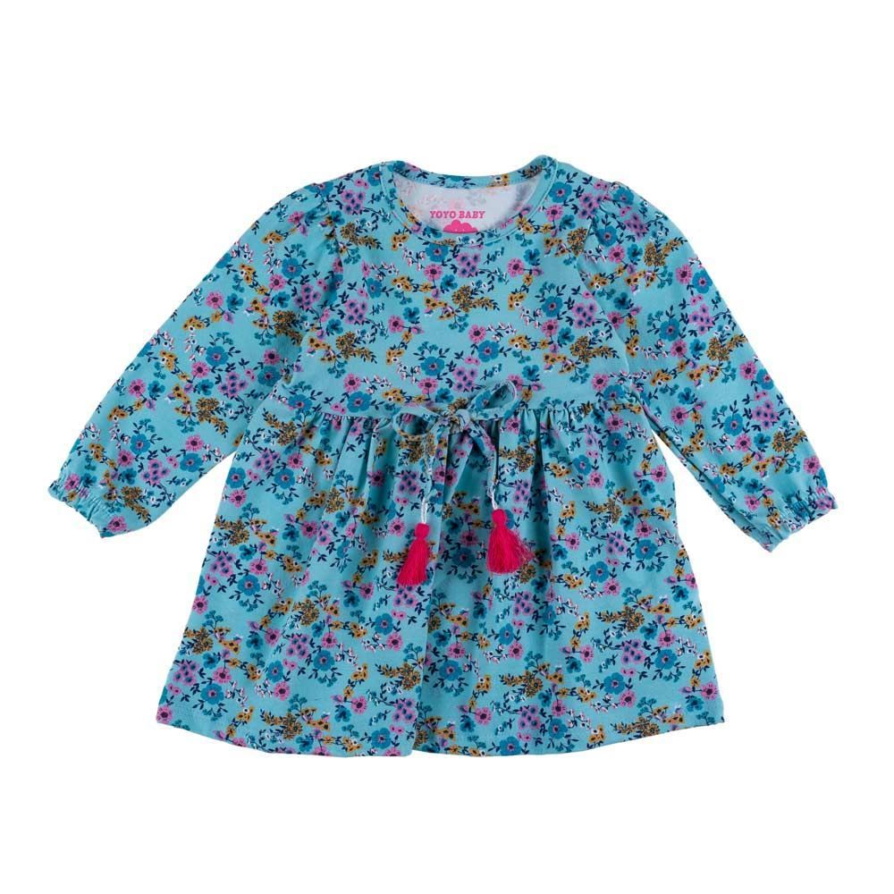 Vestido de Bebê Floral Yoyo Baby
