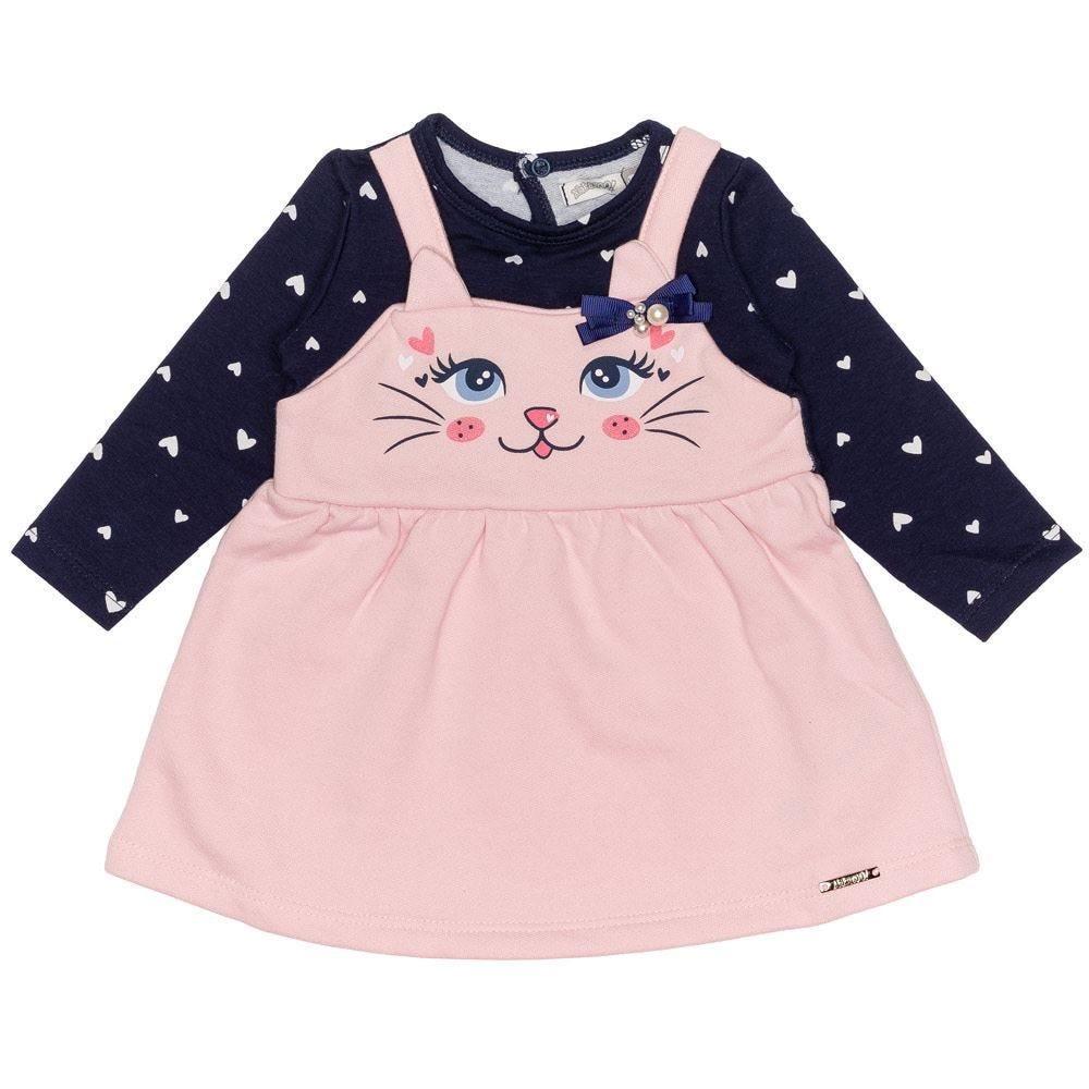 Vestido de Bebê Molecotton Felpado Alakazoo