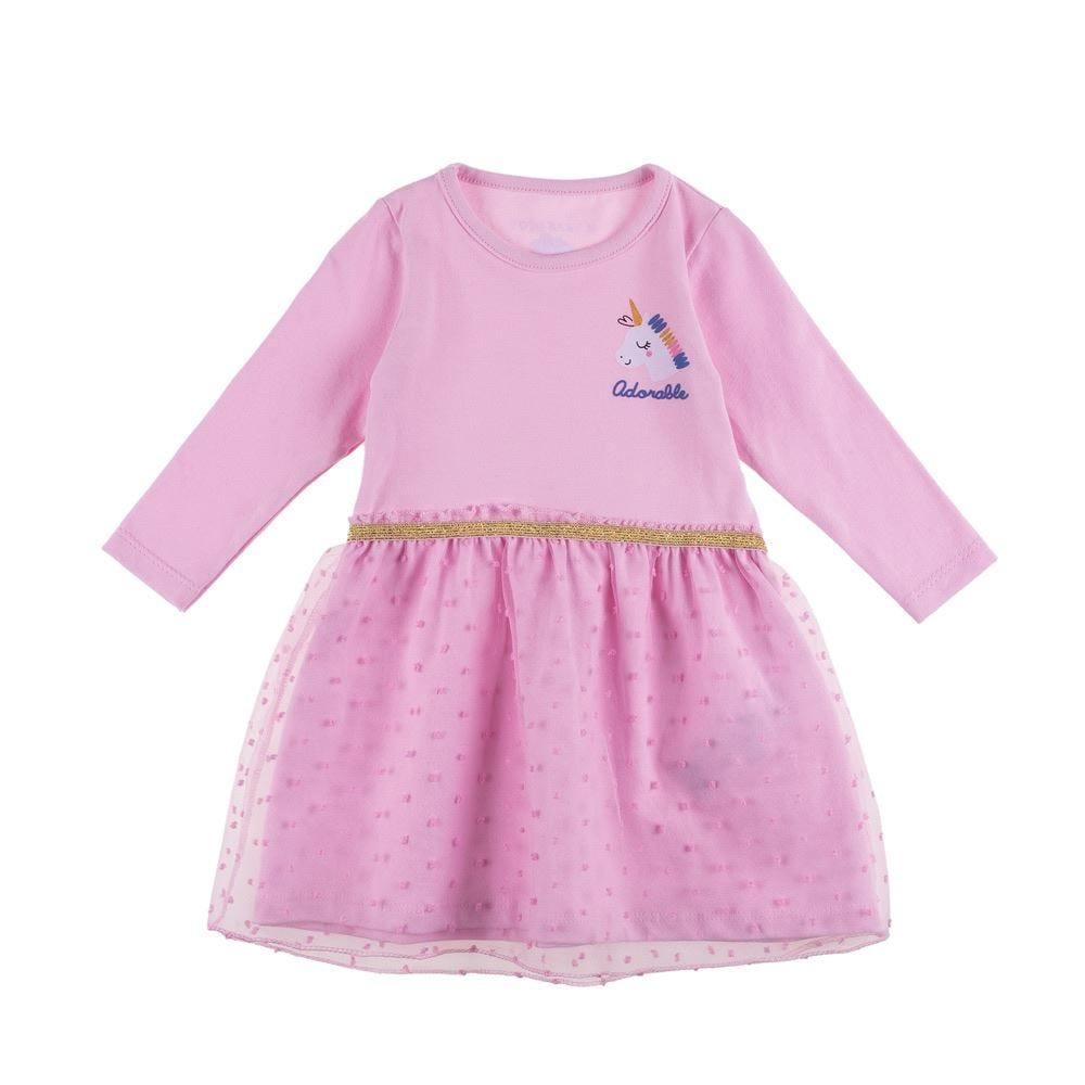 Vestido de Bebê Unicórnio Yoyo Baby
