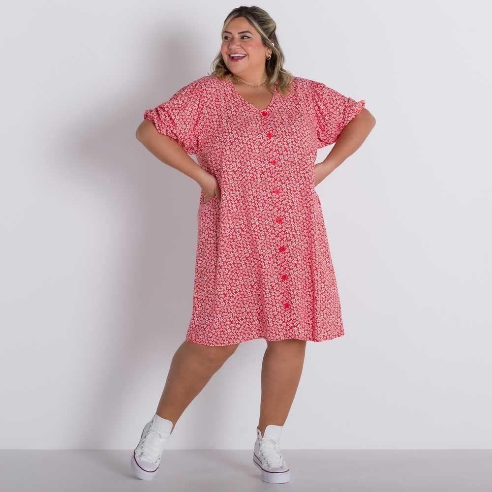 Vestido Plus Size Floral Patricia Foster Mais