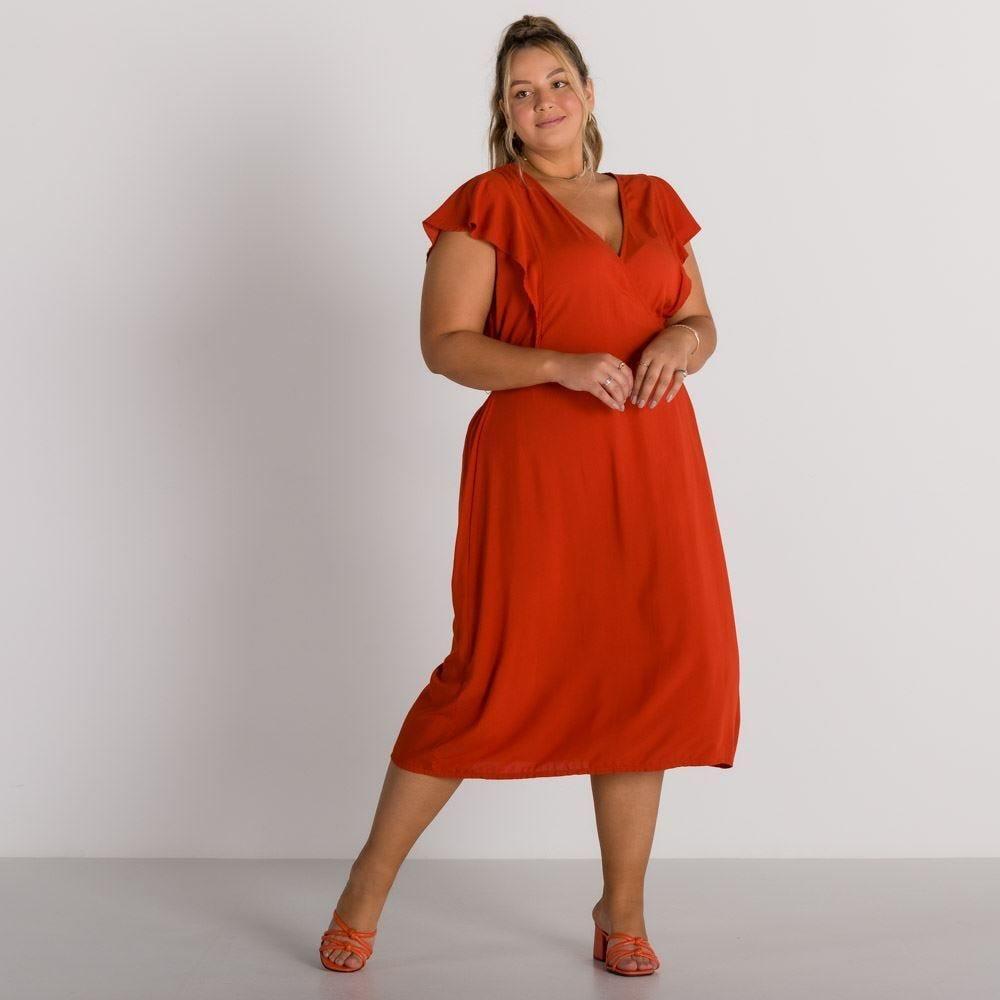 Vestido Plus Size Transpassado Patrícia Foster Mais
