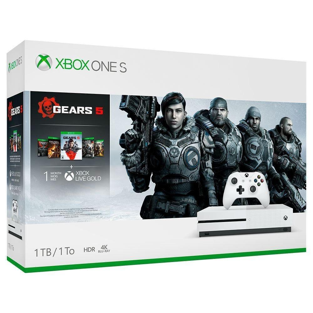 Vídeo Game Xbox One S 1Tb Bundle Gear 5 Microsoft - Bivolt