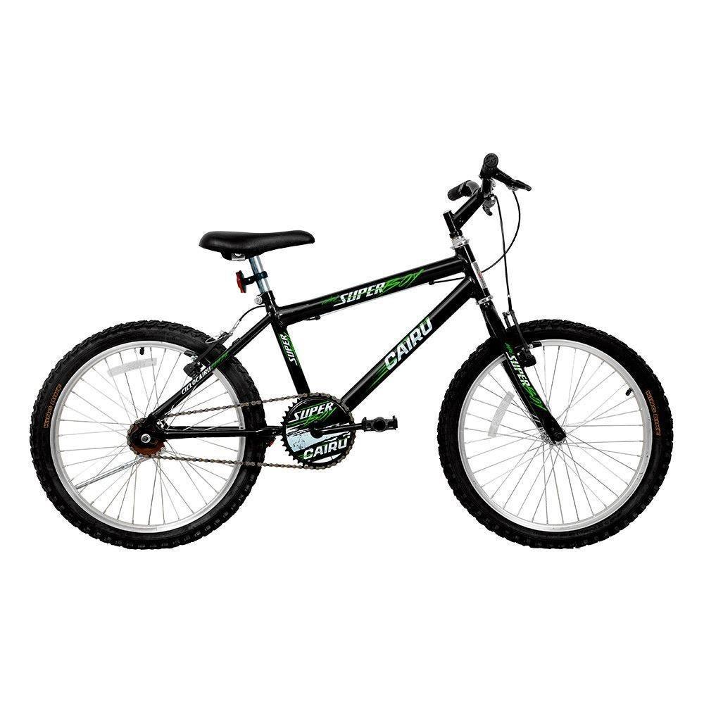 Bicicleta Cairu Super Boy Aro 20 Rígida 1 Marcha - Preto