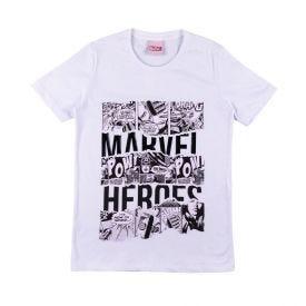 Camiseta de 12 a 16 Anos Malha Marvel Branco