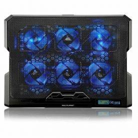 Cooler Para Notebook Com 6 Fans Led Azul Hexa Cooler Multilaser - AC282