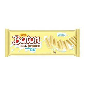 Tablete Garoto Baton Branco Recheado 96G - 96g