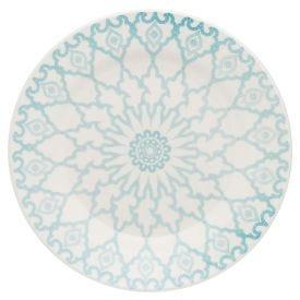 Prato Raso Donna Mandala 24Cm - Cerâmica