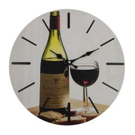 Relogio Parede Mundi 33,8Cm - Vinho