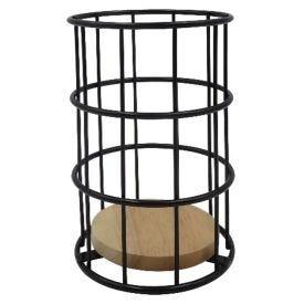 Porta Talheres 11,20X17cm - Preto