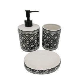 Conjunto Banheiro Dalia 3Pc - Preto e Branco