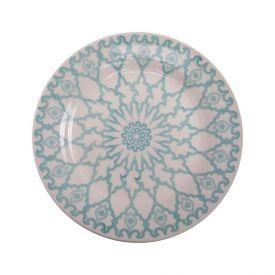Prato Sobremesa Donna Mandala 19Cm - Cerâmica
