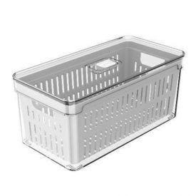 Organizador C/ Cesto Clear Fresh 5L - Branco
