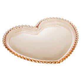 Prato Coracao Pearl 18X15x2cm - Âmbar