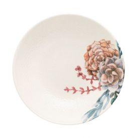 Prato Fundo Unni Bothanica 20,5Cm - Cerâmica