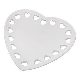 Petisqueira Ceramica Coracao 23X22cm - Branco
