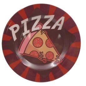 Prato Melamina Estampado 25Cm - Pizza