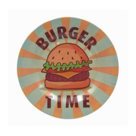 Prato Melamina Estampado 20Cm - Burger Time