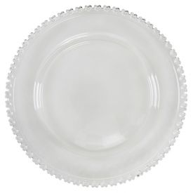Prato Raso Coracao 28Cm - Vidro