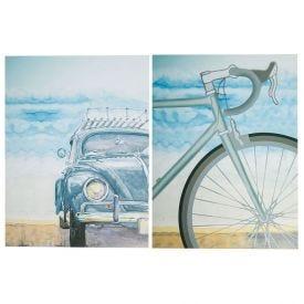 Quadros Decorativos Bike Car 2Pc - PLC00200