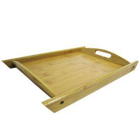 Bandeja Retangular Bambu 43,3X30x25cm - Bambu