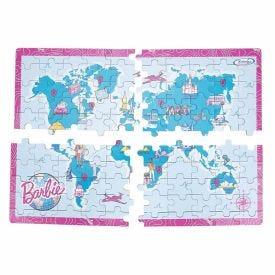 Quebra-Cabecas 23165  Mapa-Mundi Travel Barbie - 23165