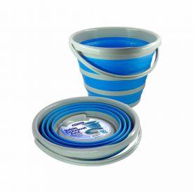 Balde Dobravel Bompack 10L - Azul
