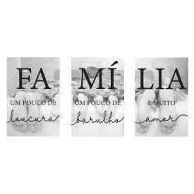 Quadros Decorativos Familia 3Pc - PLC00207
