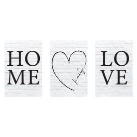 Quadros Decorativos Home Love 3Pc - PLC00206