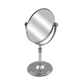Espelho Oval C/ Suporte 28Cm - Prata