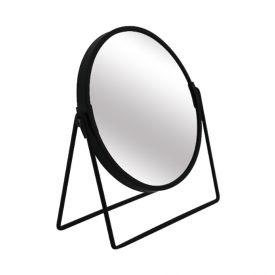 Espelho Redondo C/ Suporte 20,4Cm - Preto