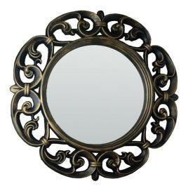 Espelho Venus Ouro Velho 60X60x4cm - Ouro Velho