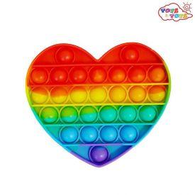 Pop It Bolha Sensorial Color 12Cm - Arco-íris
