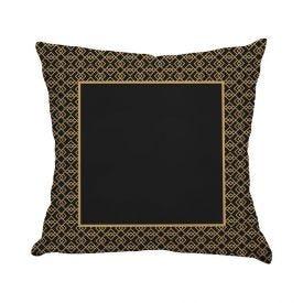Almofada De Veludo Estampada 48X48cm Havan - Quadro Dourado