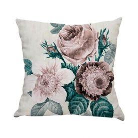 Almofada Decor 45X45cm - Flores Rose