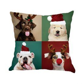 Almofada Decorativa 45X45cm Natal - Dogs Natal