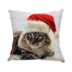 Almofada Decorativa 45X45cm Natal - Cat Christmas