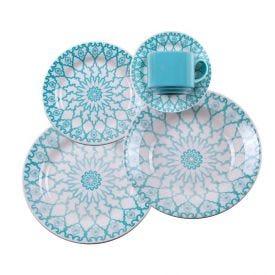 Aparelho De Jantar Oxford Donna Mandala 20 Peças - Cerâmica