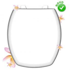 Assento Almofadado Therma Floral 753 Durin - Branco