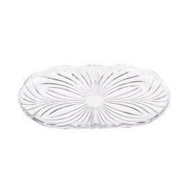 Bandeja De Cristal Diamond 23,8X14cm Lyor - Transparente