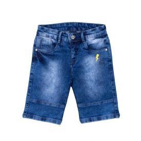 Bermuda 4 a 10 Anos Estampado Let's Rock Hot Dog Jeans