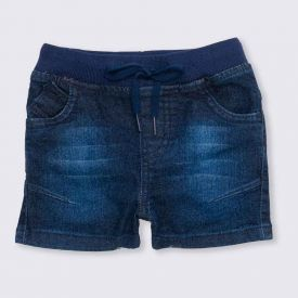 Bermuda de Bebê Jogger Retilínea Yoyo Baby Jeans