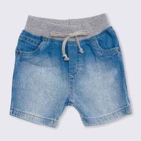 Bermuda de Bebê Menino Jeans Cós Ribana Yoyo Baby Jeans
