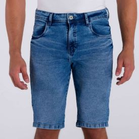 Bermuda Jeans Skinny Marc Alain Blue Escuro