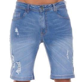 Bermuda Jeans Stone Used Nicoboco Blue