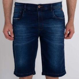 Bermuda Jeans Tradicional Five Marc Alain Azul