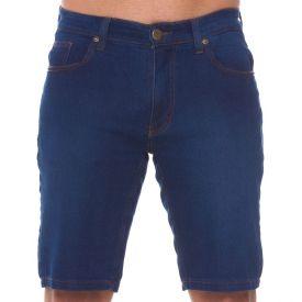 Bermuda Jeans Urbana Tradicional Marc Alain Azul Escuro