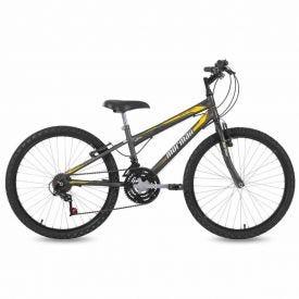 Bicicleta Aro 24 V-Brake Mormaii New Wave - Chumbo