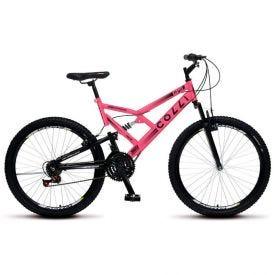 Bicicleta Aro 26 Gps Dupla Suspensão Colli Rosa - 148_19D